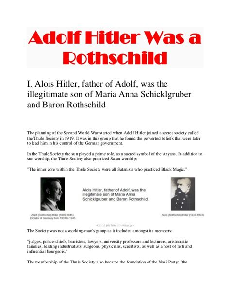 adolf hitler biography slideshare adolf hitler was a rothschild