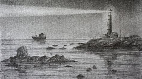 imagenes de barcos a lapiz c 243 mo dibujar un faro a l 225 piz paso a paso dibujo f 225 cil y