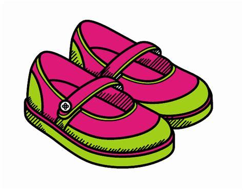 imagenes para niños de zapatos dibujo de zapatos de ni 241 a pintado por en dibujos net el