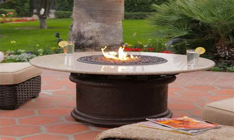 Propane fire pit table, outdoor propane fire pit with table propane fire pit tables costco