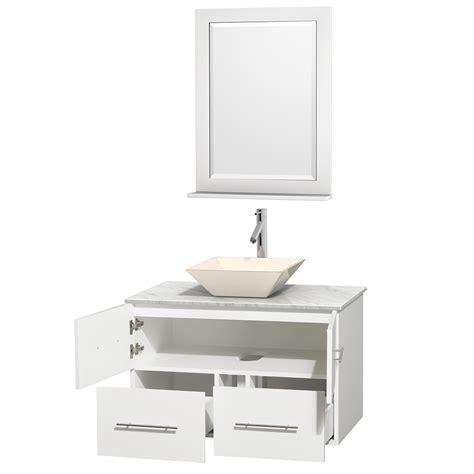 Bathroom Vanities Vessel Sinks Sets 36 Quot Centra Single Bathroom Vanity Set For Vessel Sink By Wyndham Collection White Bathroom