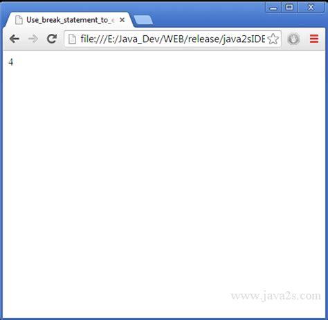tutorial javascript for loop use break statement to exit for loop in javascript