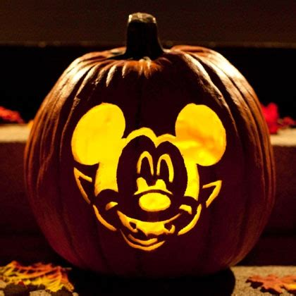 vire mickey pumpkin carving template disney family