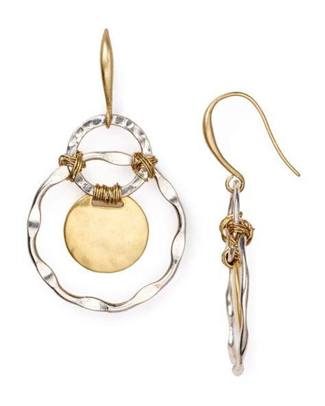 robert morris two tone orbital earrings in silver two