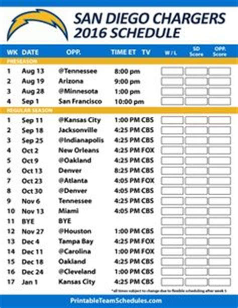 chargers football today 1000 ideas about san diego chargers schedule on