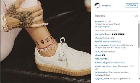 rihanna unveils new tattoo above her ankle india com
