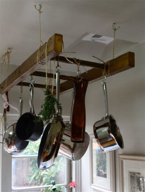 kitchen pot rack ideas 78 ideas about hanging pots on pinterest hanging pans
