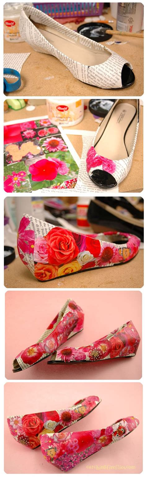 Diy Decoupage Shoes - best 25 shoe makeover ideas on shoe refashion
