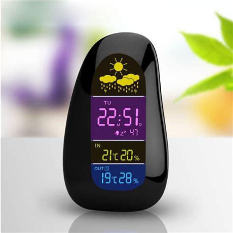 Jam Alarm Led Thermometer Hygrometer Forecast Weather Station buy wireless outdoor indoor weather station thermometer humidity meter at banggood chinaprices net