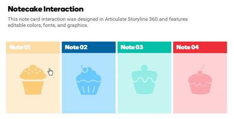 Free Animated Notecard Interaction For Storyline 360 Building Better Courses Discussions E Articulate Storyline 360 Templates