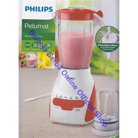 Philips Hr 2115 Blender Biru philips hr 2115 blender 2in1 pelumat multi