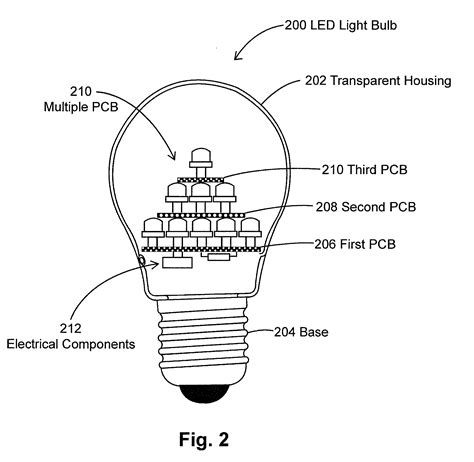 Parts Of A Led Light Bulb Patent Us8297787 Led Light Bulbs In Pyramidal Structure For Efficient Heat Dissipation