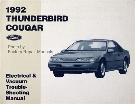download car manuals pdf free 1992 mercury cougar electronic throttle control 1992 mercury cougar owners manual 1992 ford thunderbird mercury cougar repair shop manual
