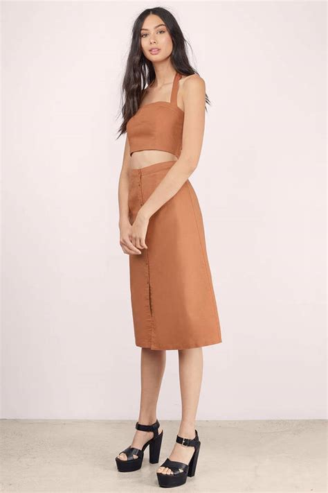 Skirt Highwaist trendy rust skirt skirt high waisted skirt 17 00