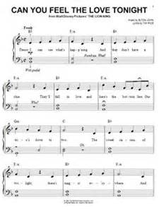 Can you feel the love tonight sheet music download first dance more
