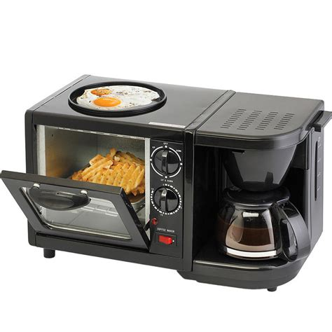 Multi Function Breakfast Cooker w/ Coffee Maker, Toaster Oven & Mini Skillet Pan   eBay