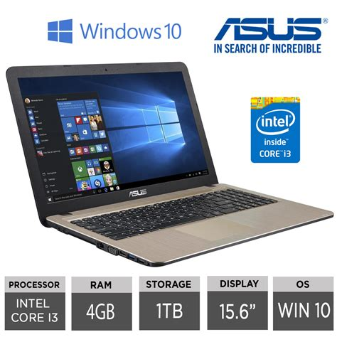 Best Asus I3 Laptop asus x540la xx004t 15 6 quot best selling asus i3 laptop 4gb ram 1tb hdd win10 ebay