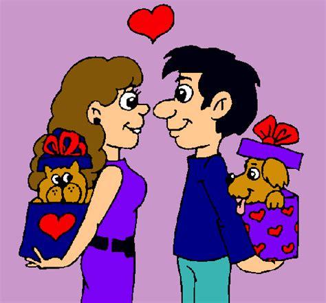imagenes de amor en dibujos dibujos de amor de parejas imagui
