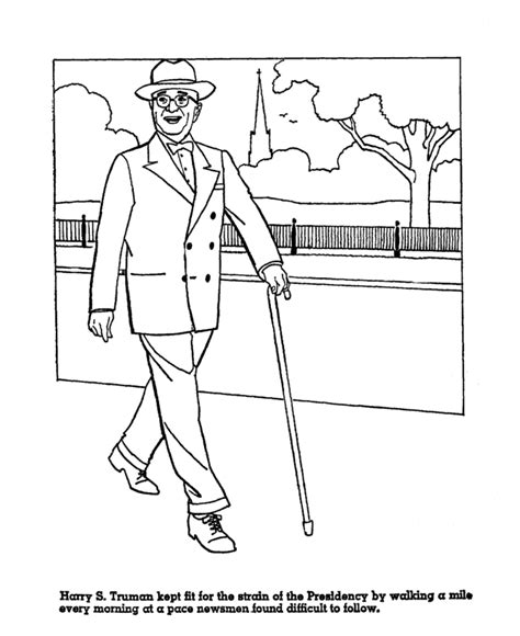 coloring pages of united states presidents usa printables president harry truman us presidents