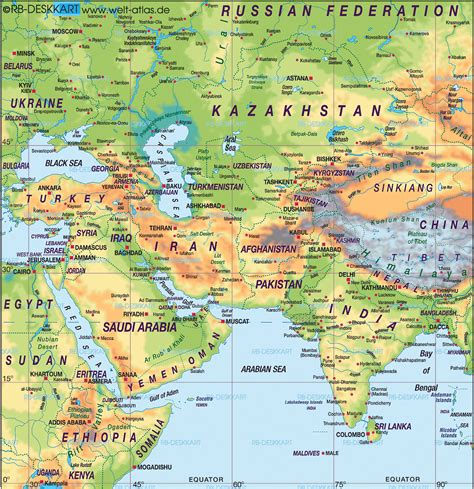 asia map atlas map of middle east asia map in the atlas of the world
