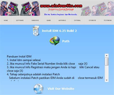 jadikan idm full version patch crack serial number idm 6 25 build 2