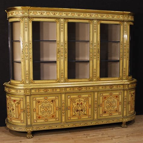 libreria francese libreria francese in legno intarsiato con bronzi dorati