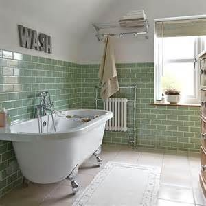 bathroom with green metro tiles how to decorate with