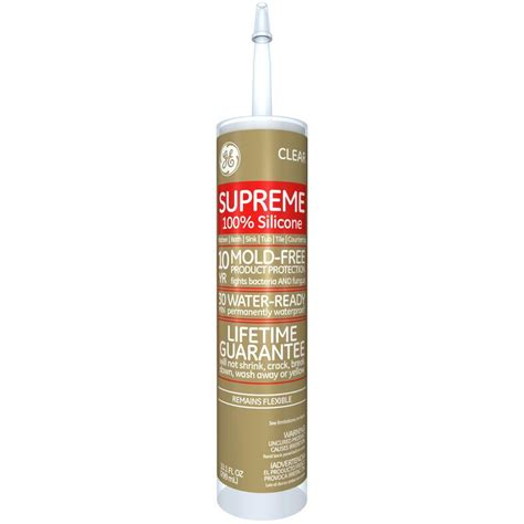 silicone bathroom caulk ge supreme silicone 10 1 oz clear kitchen and bath caulk m90006 30 12c the home depot