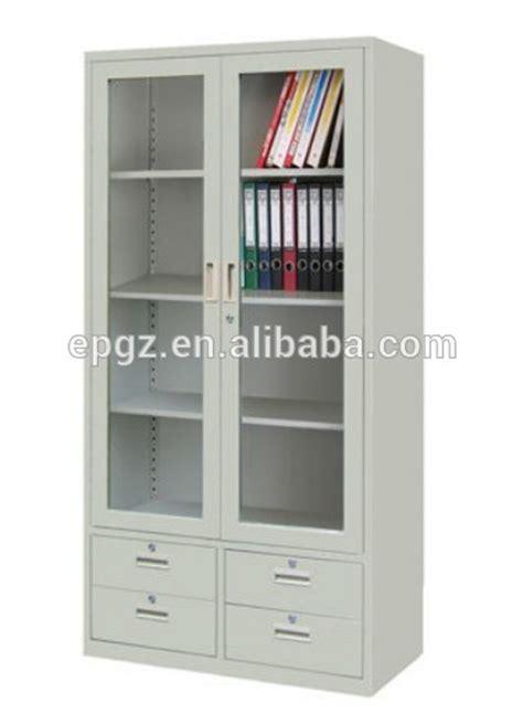 Glass Doors Metal Bookshelf For Filing Cabinet Bookshelf