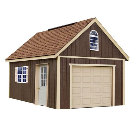 Shed At Glenwood by Best Barns Glenwood 12x16 Wood Garage Free Shipping