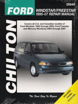 auto repair manual free download 2004 mercury grand marquis on board diagnostic system ford windstar freestar mercury monerey 2004 2007 chiltons total car care repair manuals pdf