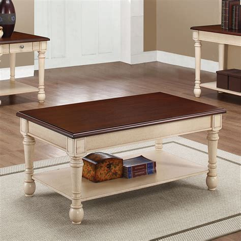 white and brown coffee table 704418 brown and white coffee table from coaster