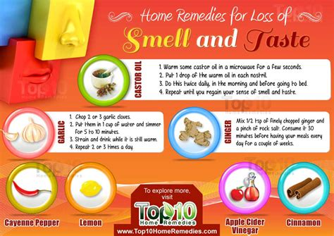 home tips home remedies for loss of smell and taste top 10 home remedies