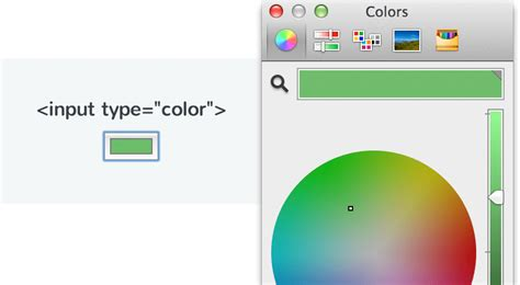 w3c color picker how to use the input element treehouse
