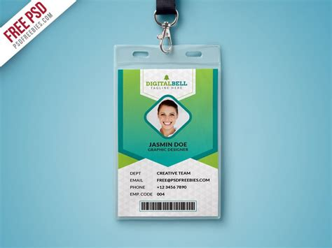 Student Id Card Template Psd by Free Psd Multipurpose Photo Identity Card Template Psd