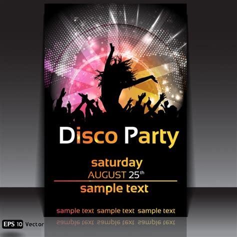 design poster party disco party poster design vector free download