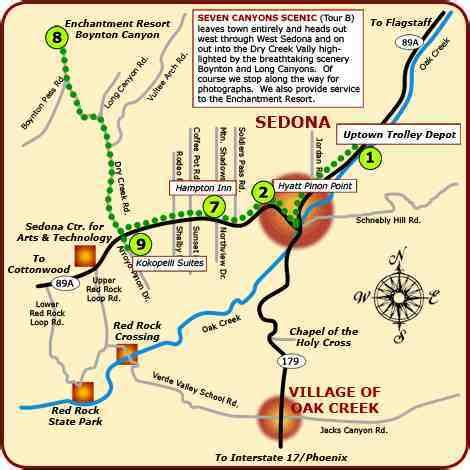 sedona az map where is sedona arizona on the map