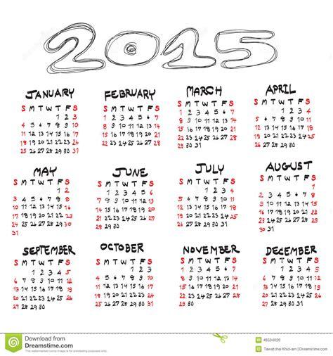 goldendoodle 2015 calendar calendar for 2015 on white background vector eps10 stock