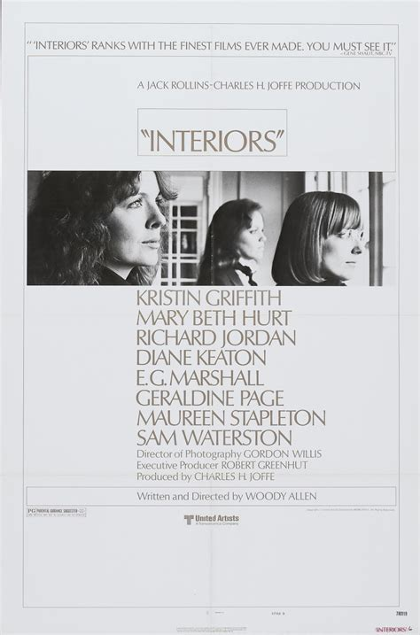 Interiors By Woody Allen by Interiors Poster 1 The Woody Allen Pages The Woody Allen