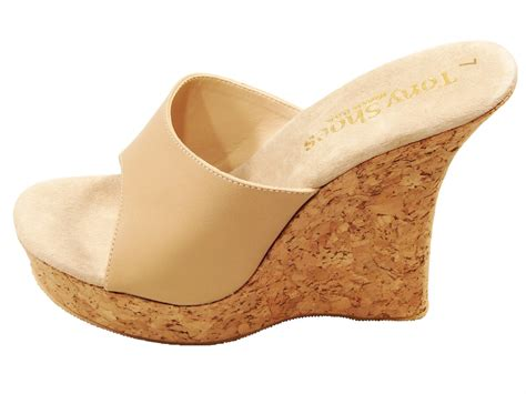 high heel cork wedge sandals tony shoes w544 cork wedge high heel platform mules