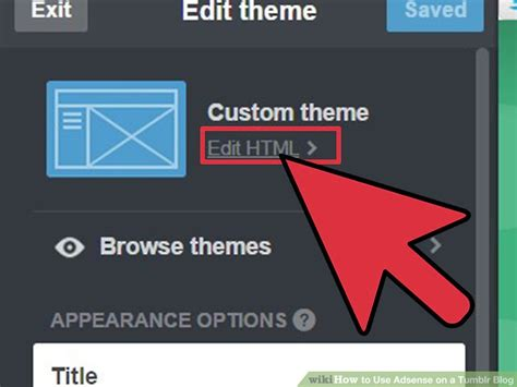 adsense on tumblr how to use adsense on a tumblr blog 6 steps with pictures