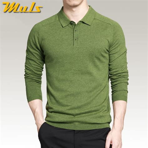 Basic Sweater Polos 2 aliexpress buy 8 colors mens polo sweaters simple style cotton knitted sleeve