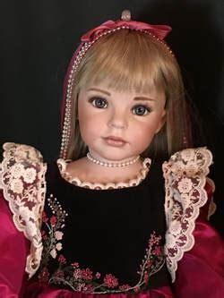 large dolls    porcelain dolls  lace