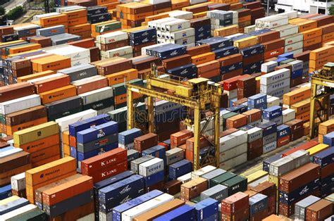 porto singapore singapore porto contenitori fotografia editoriale