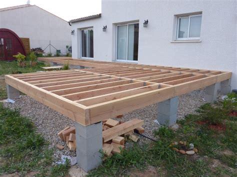 Terrasse Robinier Sur Poutres Douglas 53 Messages Double Structure Pour Terrasse De Piscine En Lambourdes Bois