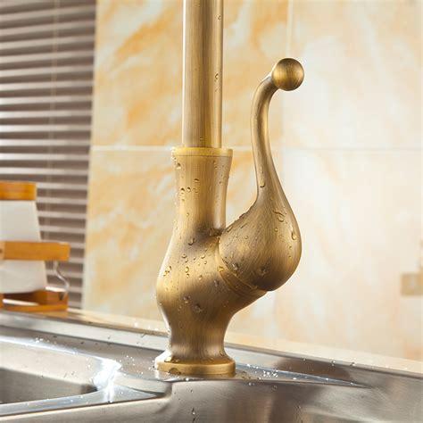 brass kitchen sink faucet saguache antique brass single handle kitchen sink faucet