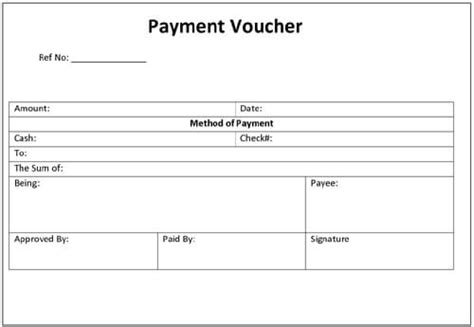 Payment Voucher Template Word Payment Form Template Html