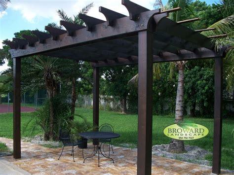 Pergola Tropical Deck Miami By Broward Landscape Inc Pergolas In Miami