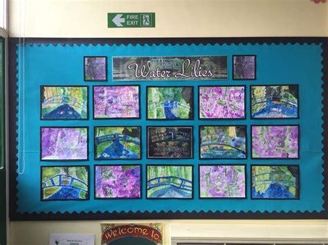 painting ks1 monet water lilies classroom display ks1 ks2