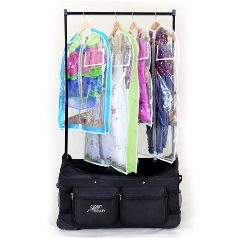 Rolling Bag With Rack by The Closet Trolley Rolling Duffel Bag Bag With